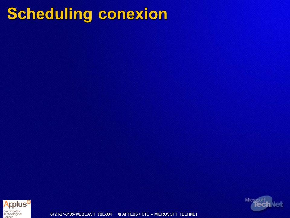 Scheduling conexion