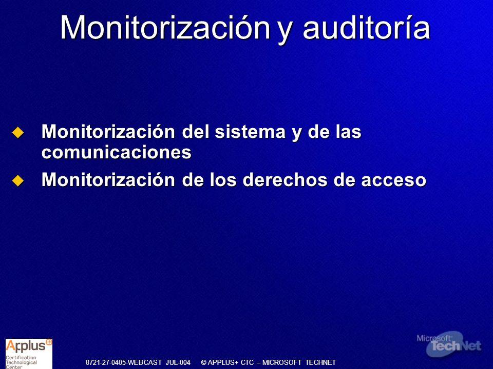 Monitorización y auditoría