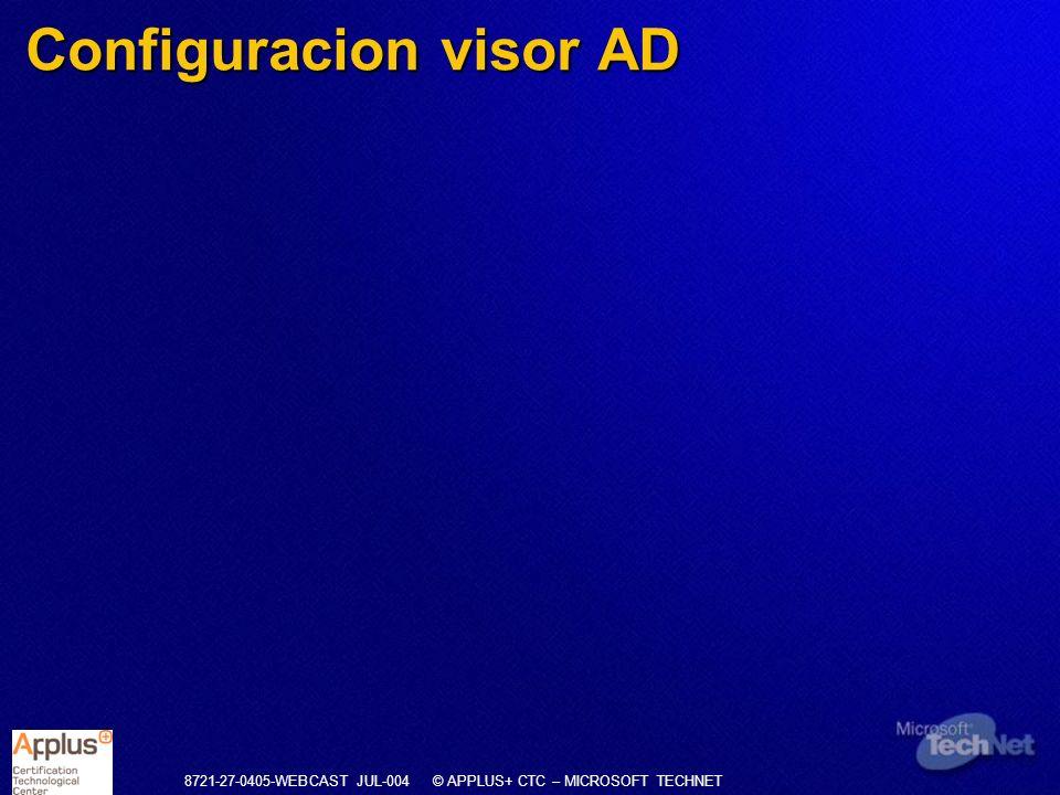Configuracion visor AD