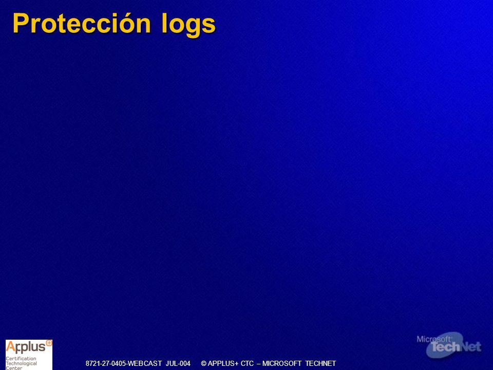 Protección logs
