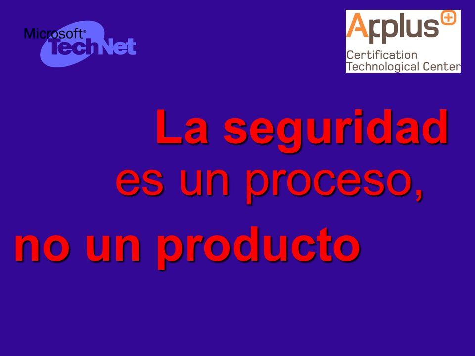 La seguridad es un proceso, no un producto