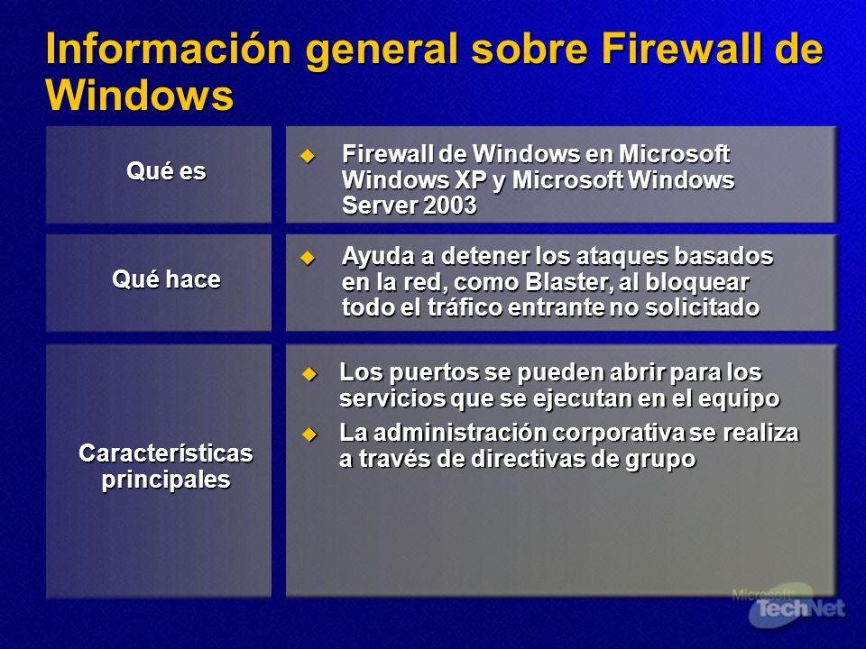 Información general sobre Firewall de Windows