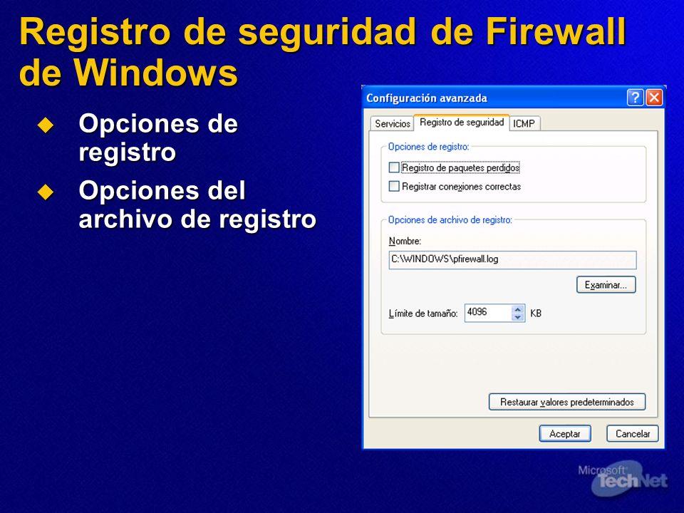 Registro de seguridad de Firewall de Windows
