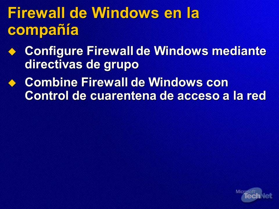 Firewall de Windows en la compañía