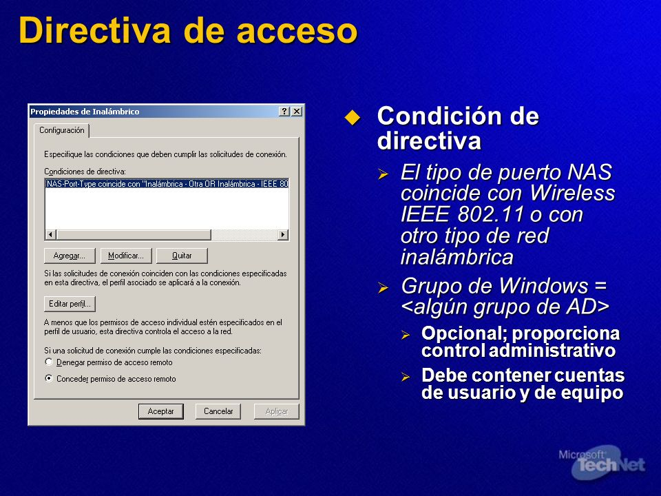 Directiva de acceso Condición de directiva