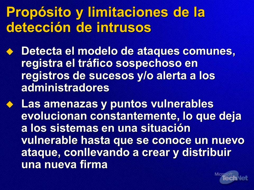 Propósito y limitaciones de la detección de intrusos