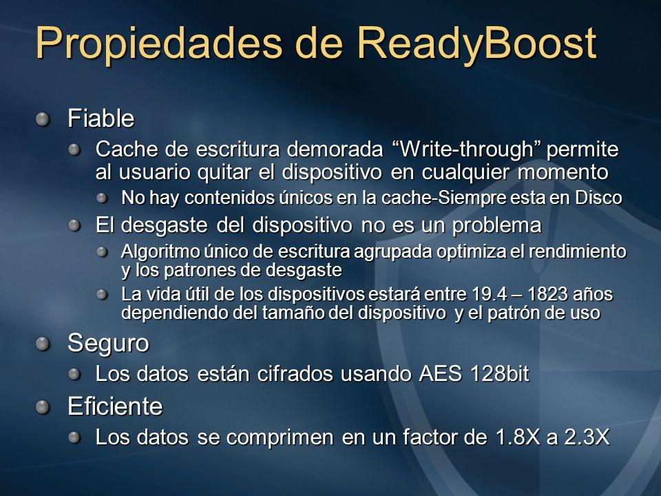 Propiedades de ReadyBoost