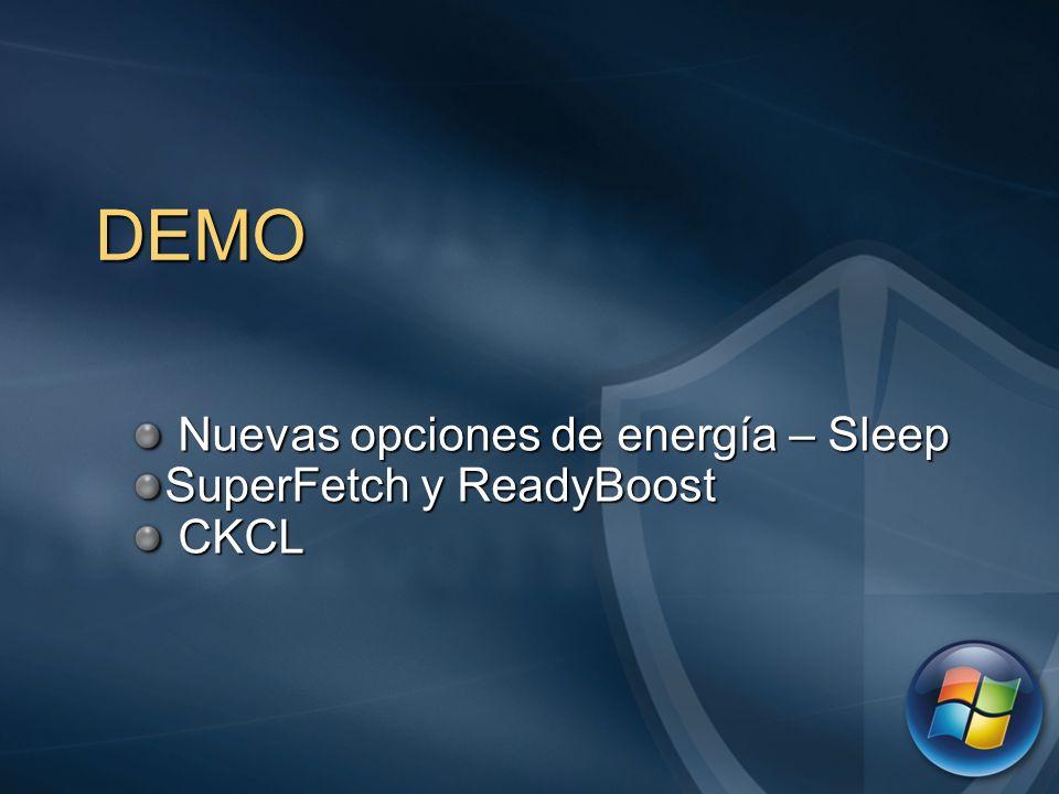 Nuevas opciones de energía – Sleep SuperFetch y ReadyBoost CKCL