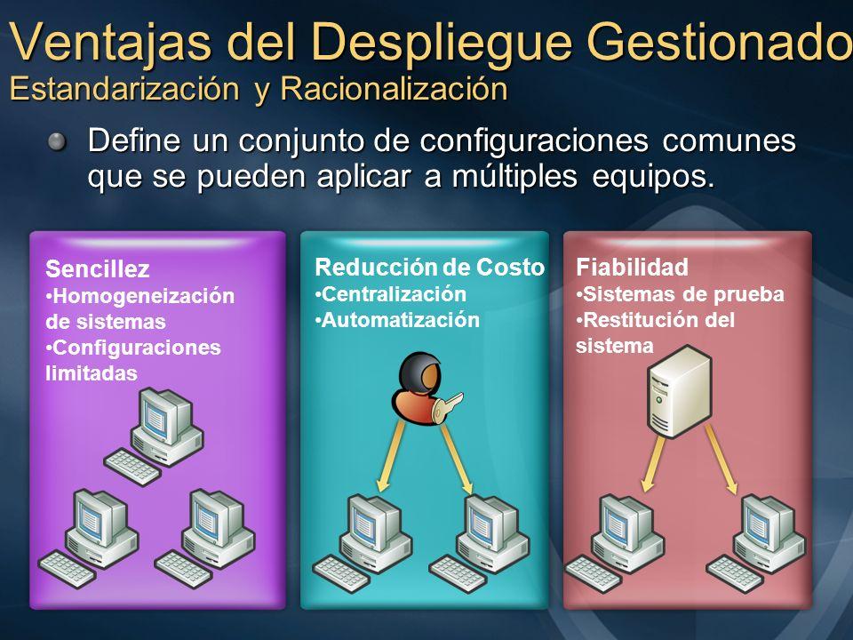 Ventajas del Despliegue Gestionado Estandarización y Racionalización