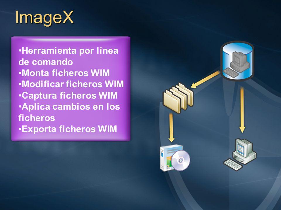 ImageX Herramienta por línea de comando Monta ficheros WIM