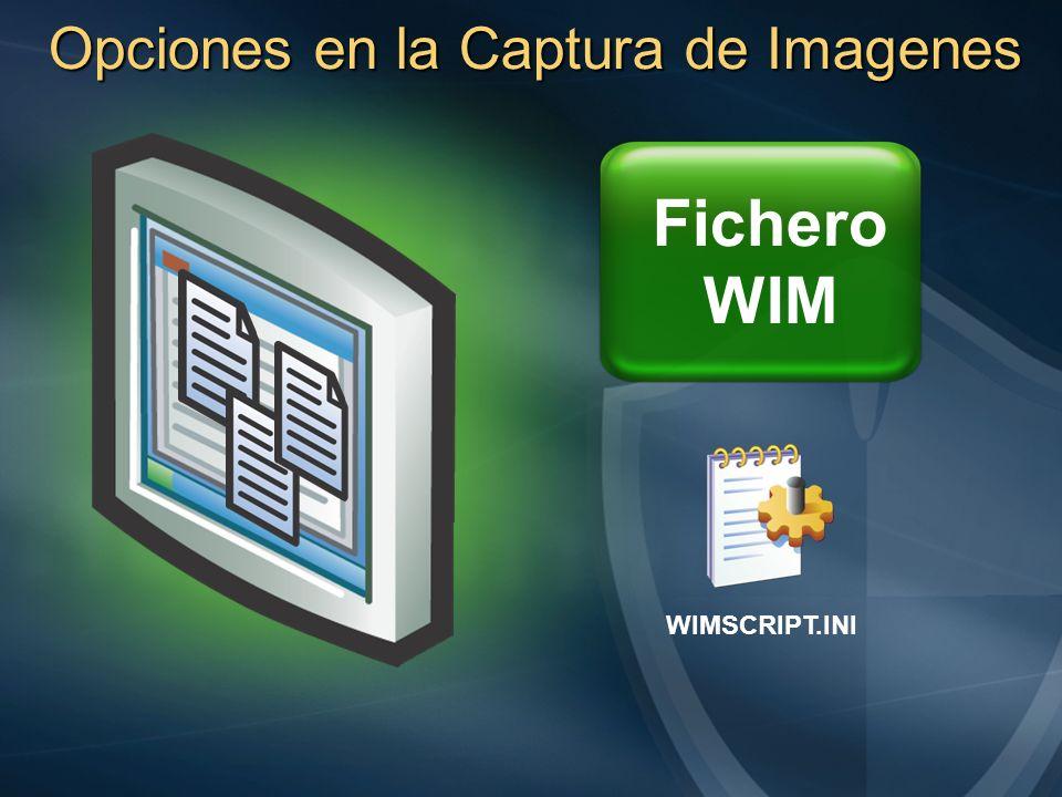 Opciones en la Captura de Imagenes