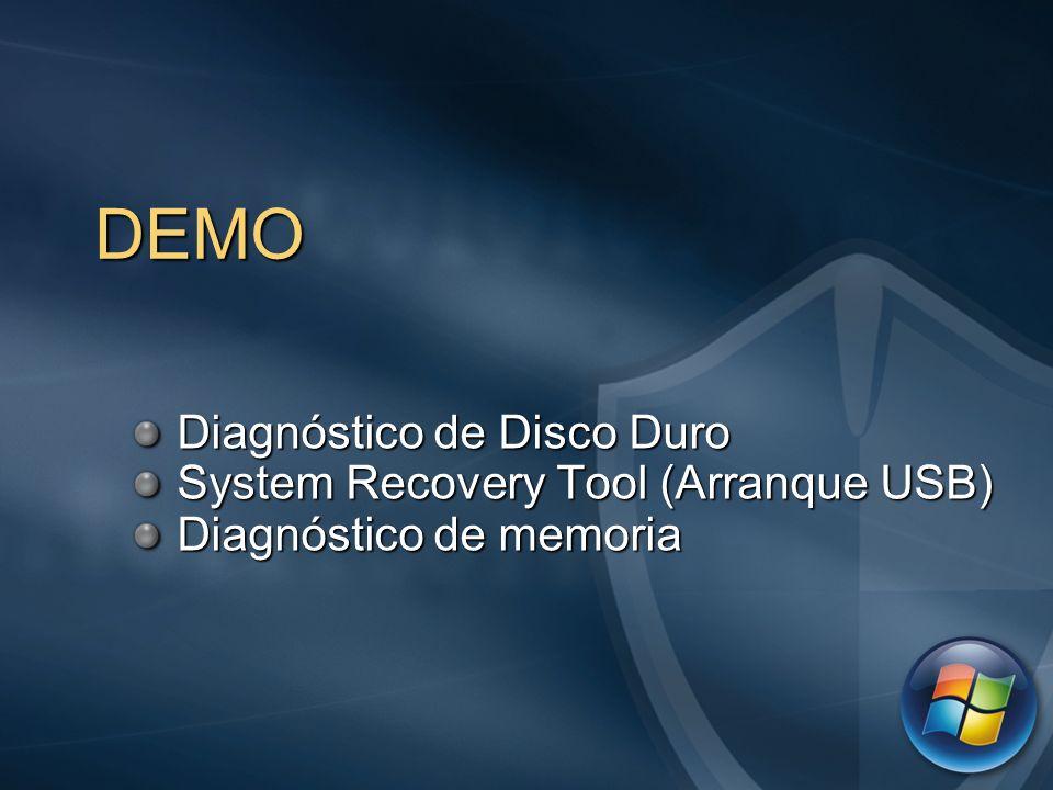 DEMO Diagnóstico de Disco Duro System Recovery Tool (Arranque USB)