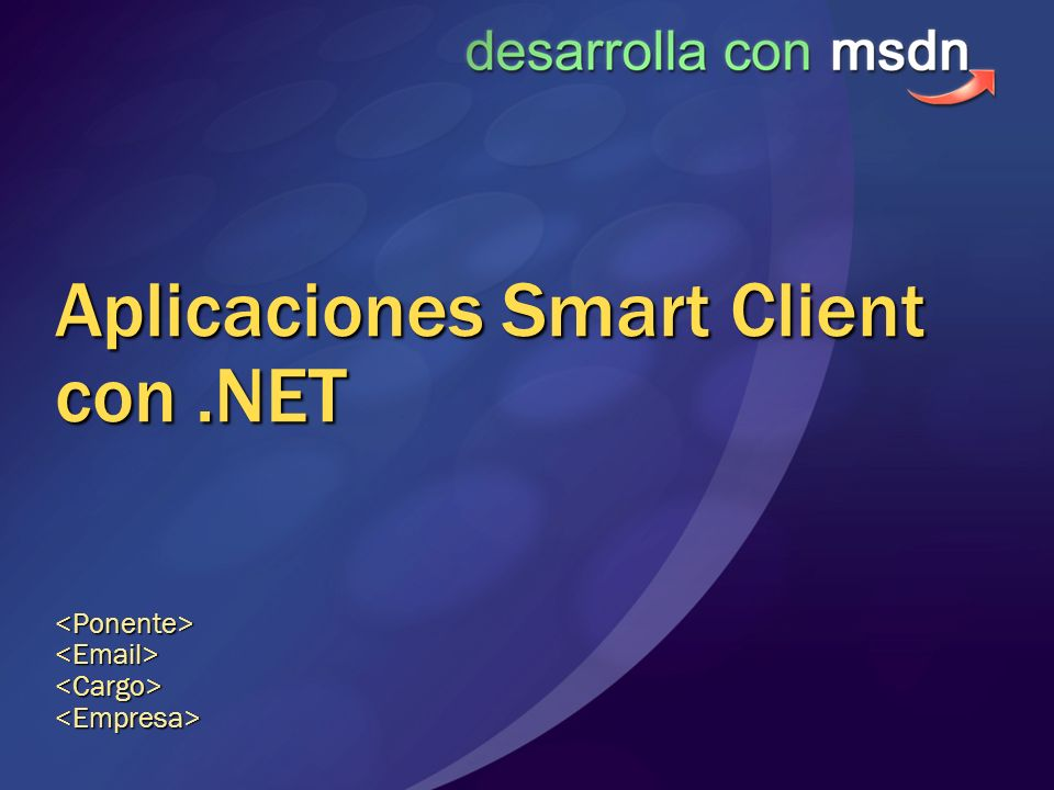 Aplicaciones Smart Client con .NET