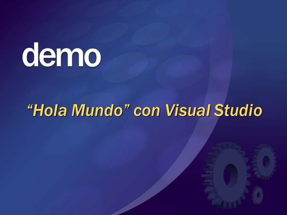 Hola Mundo con Visual Studio