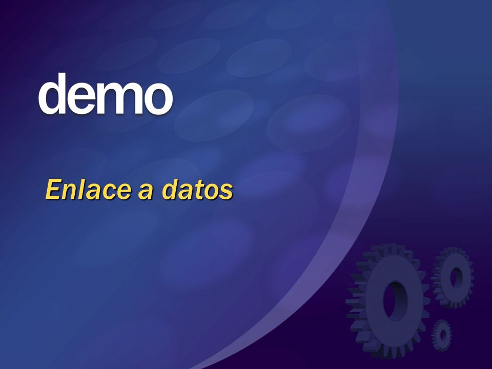 Enlace a datos © 2004 Microsoft Corporation. All rights reserved.