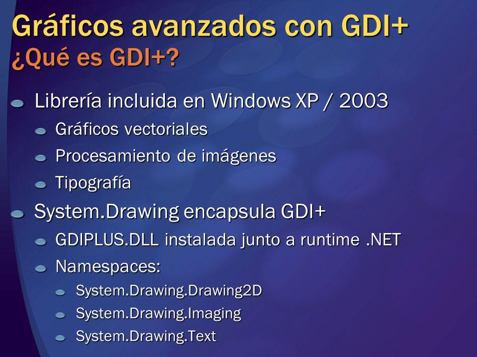 Gráficos avanzados con GDI+ ¿Qué es GDI+