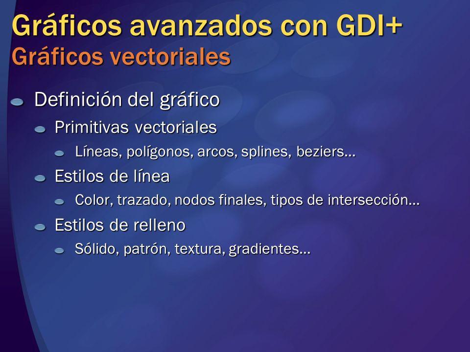 Gráficos avanzados con GDI+ Gráficos vectoriales