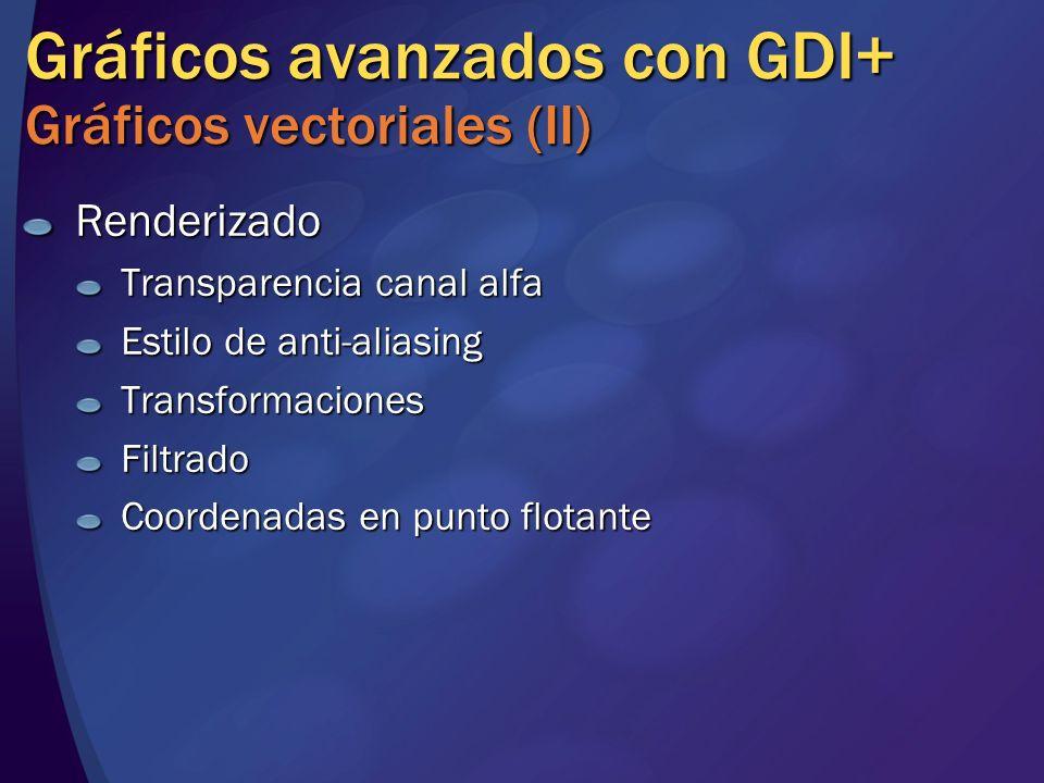 Gráficos avanzados con GDI+ Gráficos vectoriales (II)