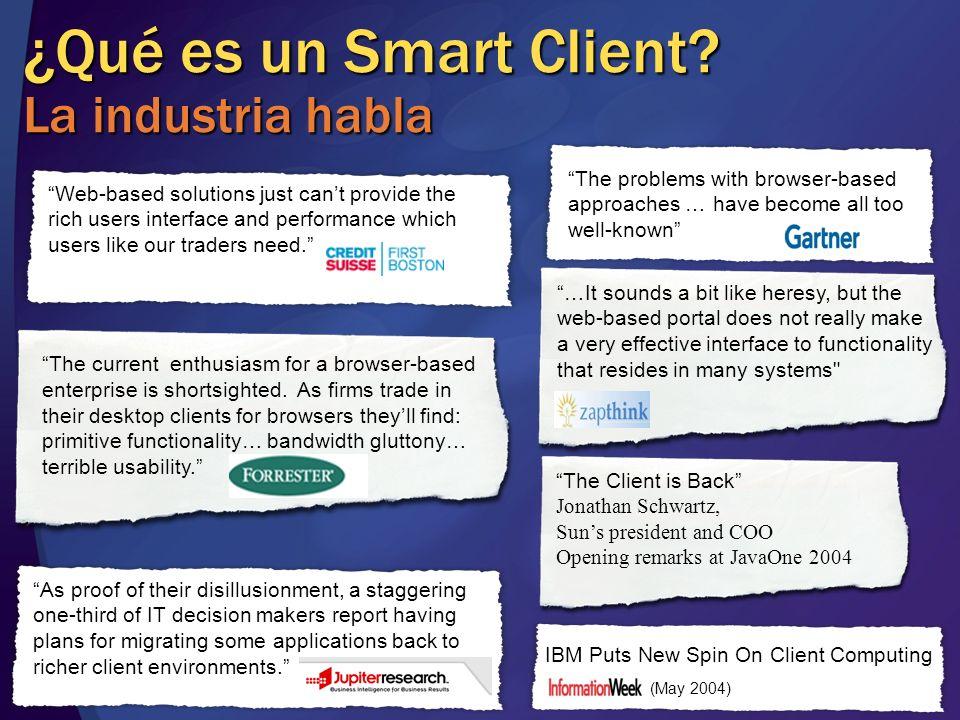 ¿Qué es un Smart Client La industria habla
