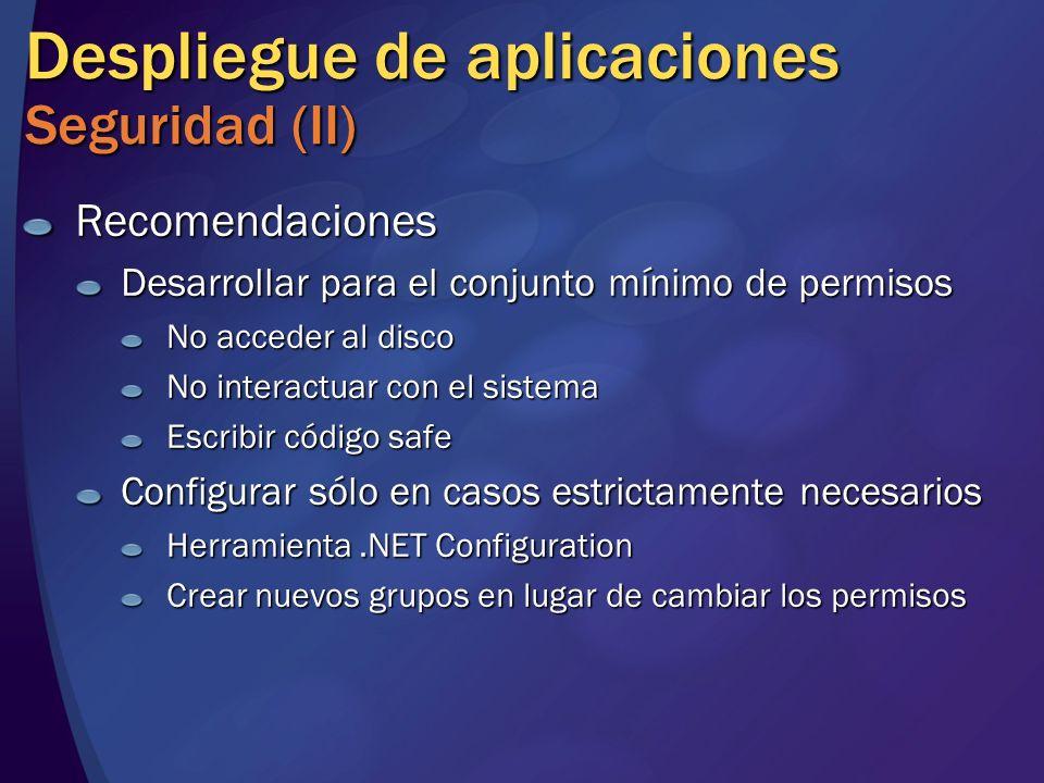 Despliegue de aplicaciones Seguridad (II)