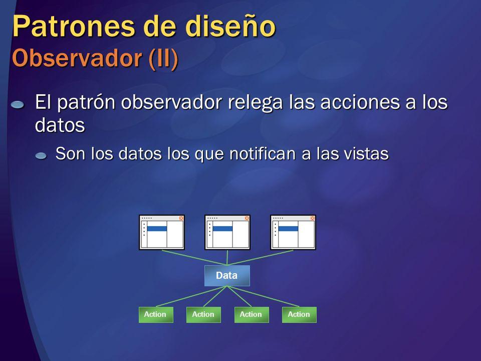 Patrones de diseño Observador (II)