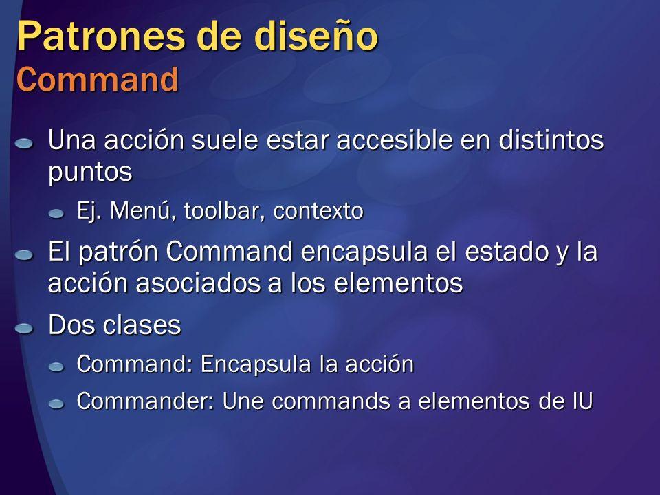 Patrones de diseño Command