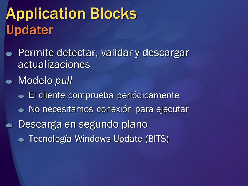 Application Blocks Updater