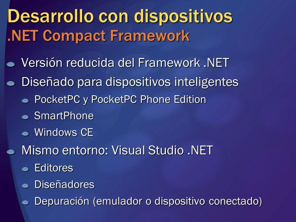 Desarrollo con dispositivos .NET Compact Framework