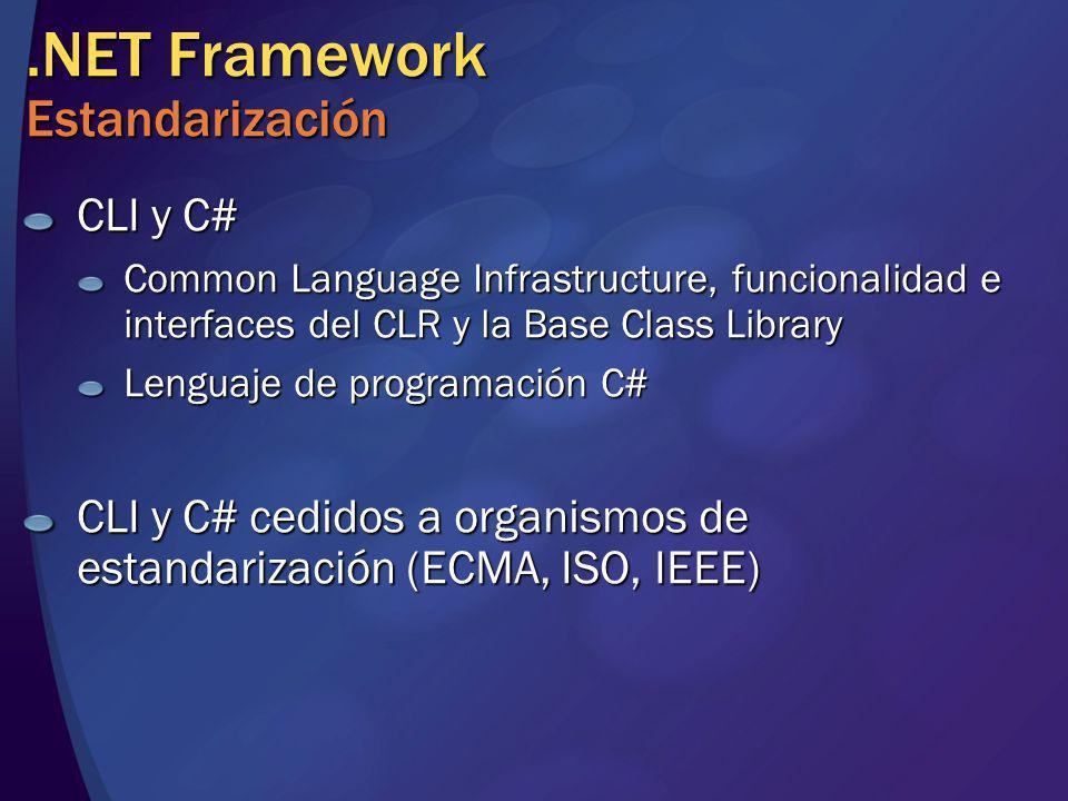 .NET Framework Estandarización