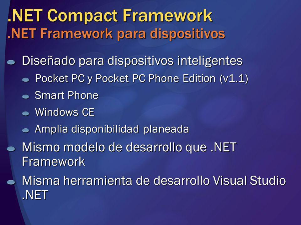 .NET Compact Framework .NET Framework para dispositivos