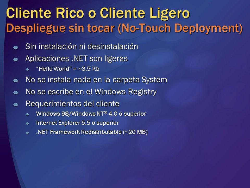 Cliente Rico o Cliente Ligero Despliegue sin tocar (No-Touch Deployment)