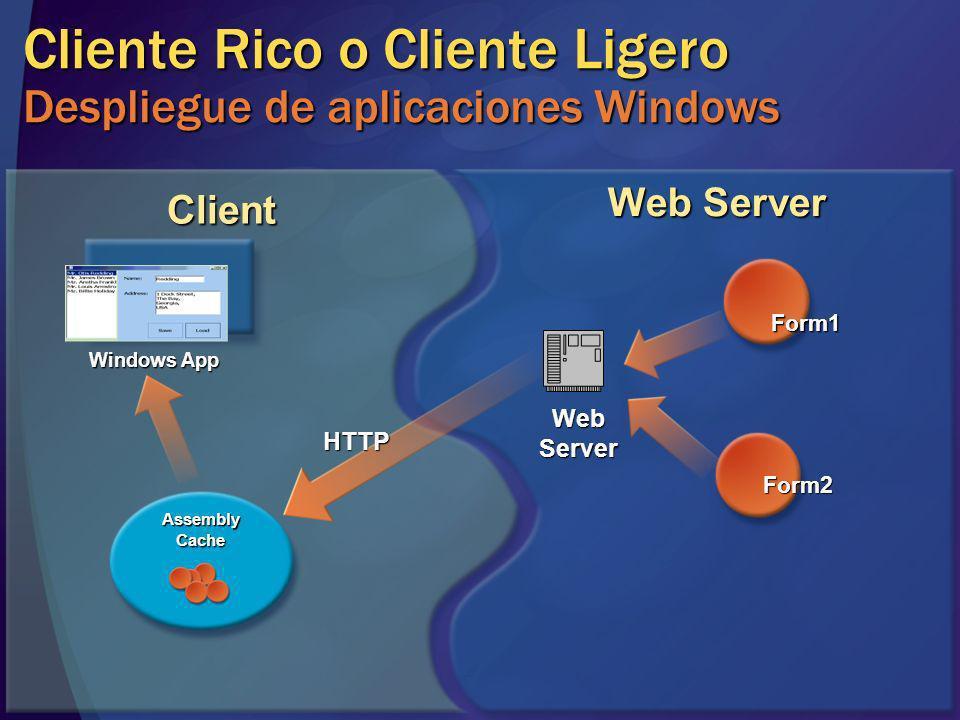 Cliente Rico o Cliente Ligero Despliegue de aplicaciones Windows