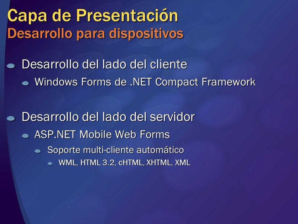 Capa de Presentación Desarrollo para dispositivos