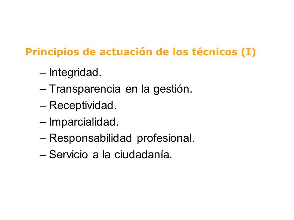 Principios de actuación de los técnicos (I)