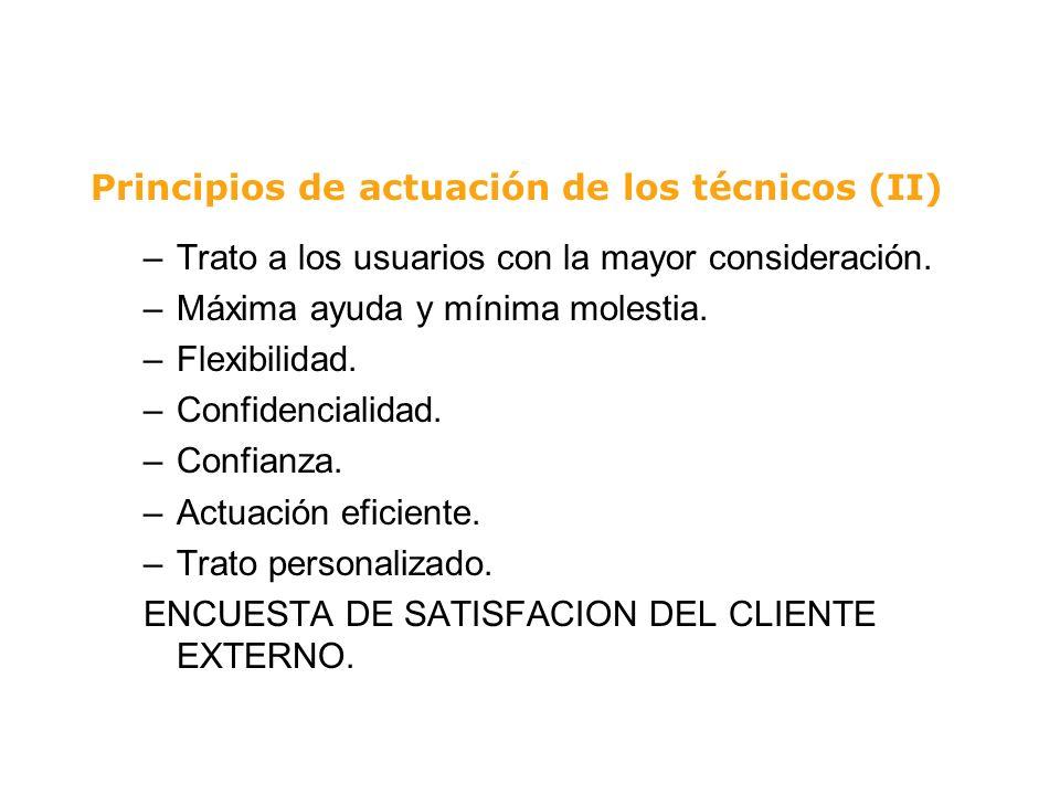 Principios de actuación de los técnicos (II)