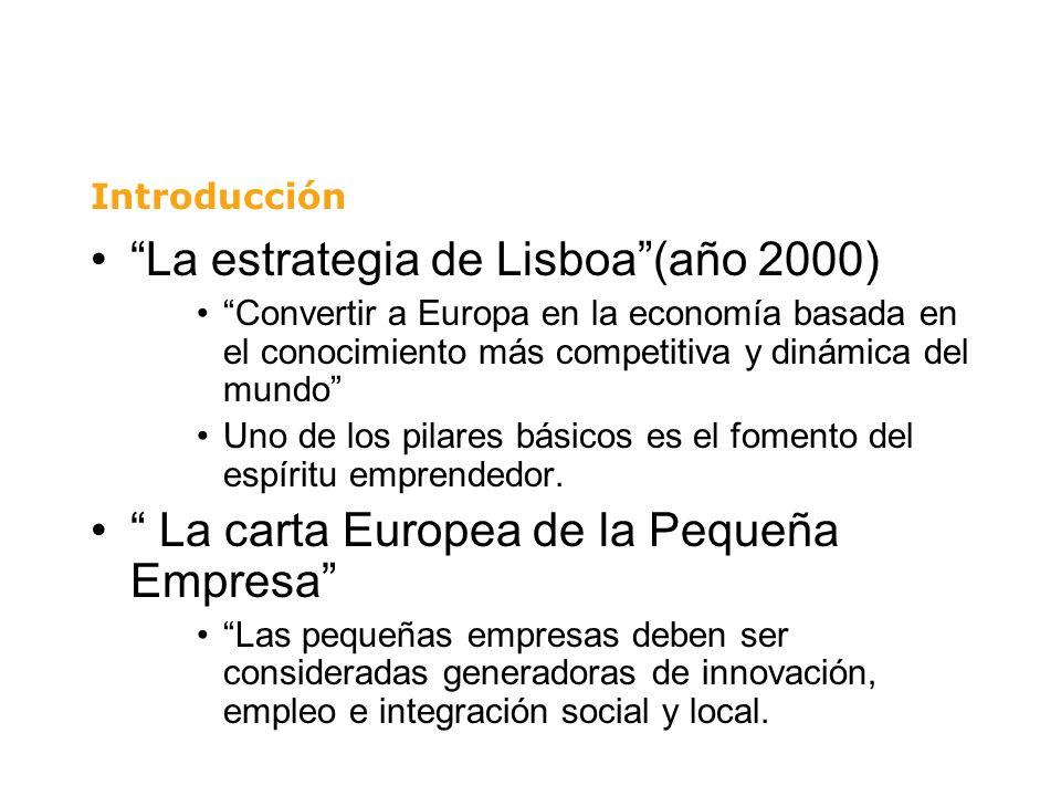 La estrategia de Lisboa (año 2000)