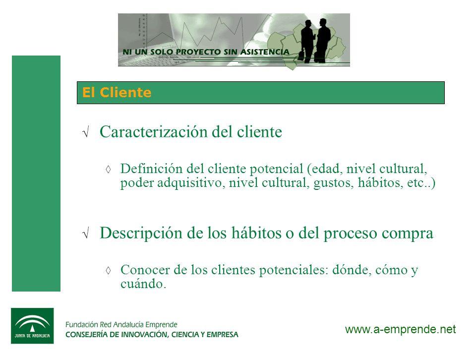 Caracterización del cliente