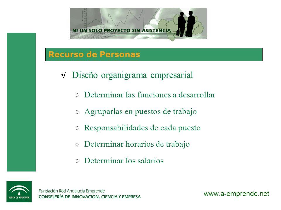 Diseño organigrama empresarial