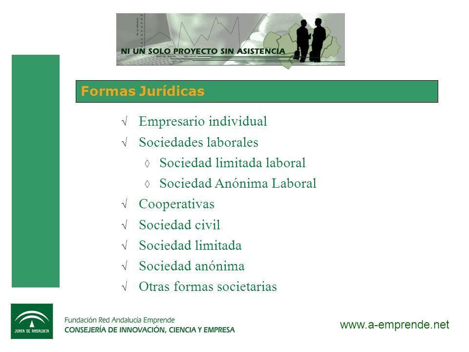 Empresario individual Sociedades laborales Sociedad limitada laboral
