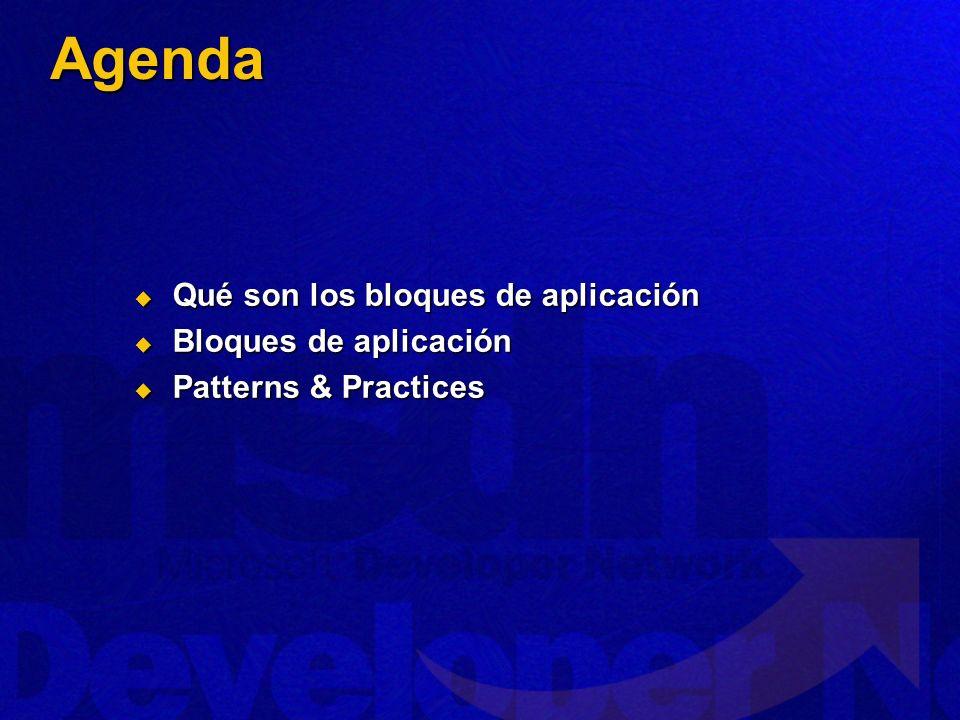 Agenda Qué son los bloques de aplicación Bloques de aplicación