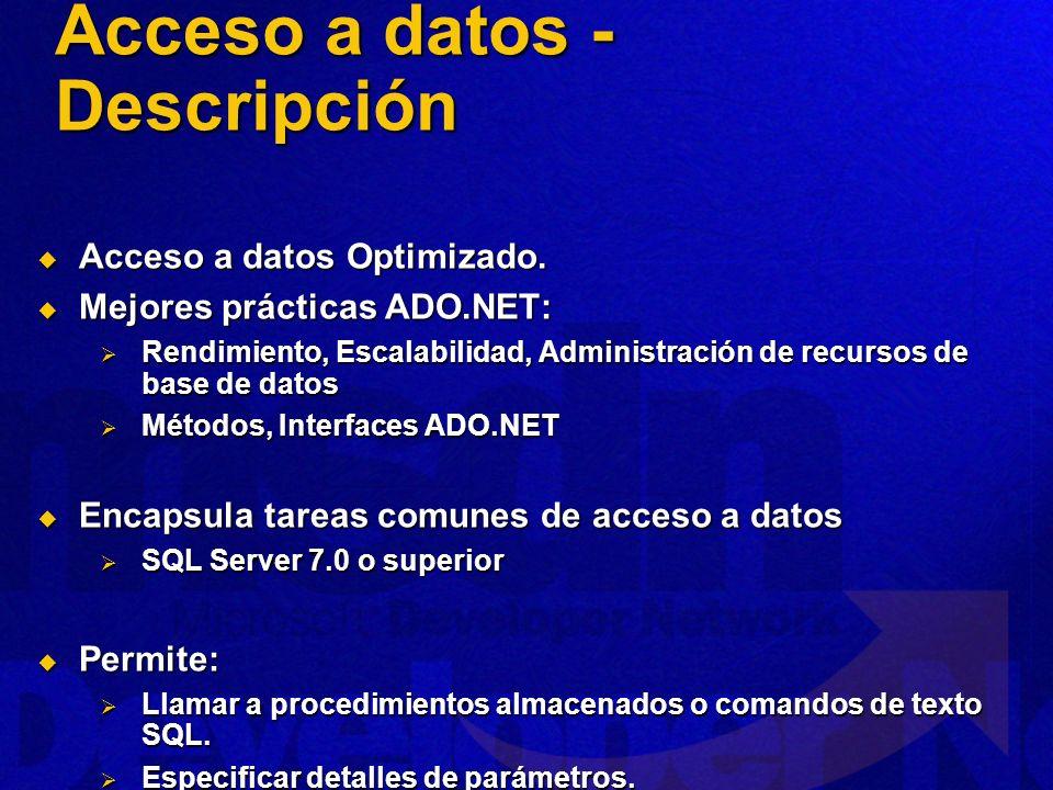 Acceso a datos - Descripción
