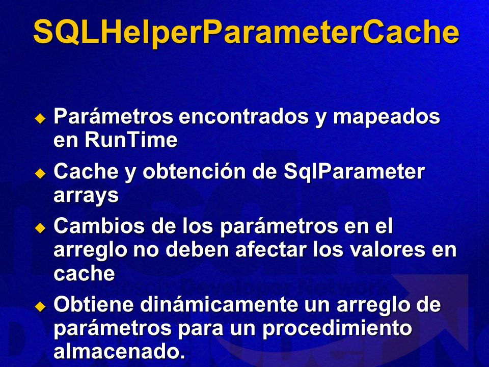 SQLHelperParameterCache