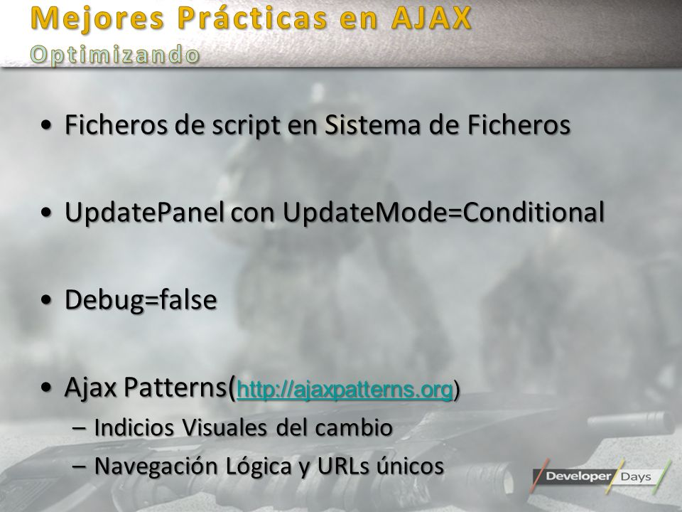 Mejores Prácticas en AJAX Optimizando