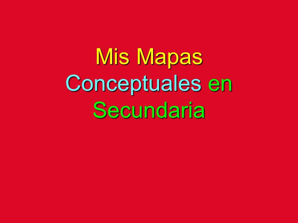 Mis Mapas Conceptuales en Secundaria