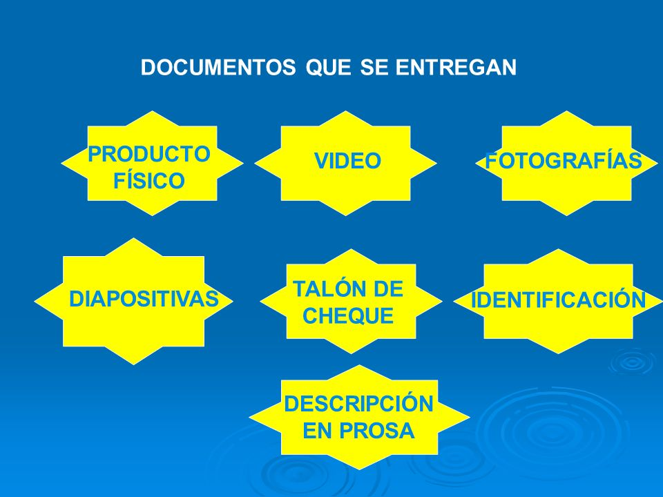 DOCUMENTOS QUE SE ENTREGAN
