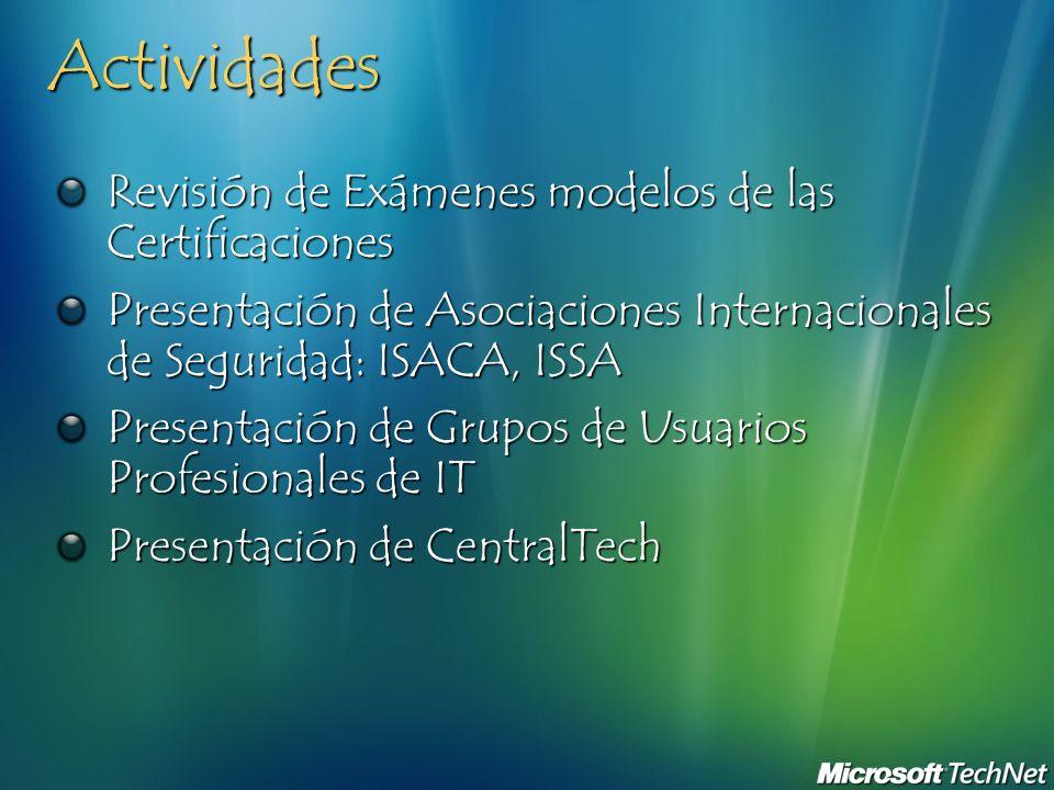 Actividades Revisión de Exámenes modelos de las Certificaciones