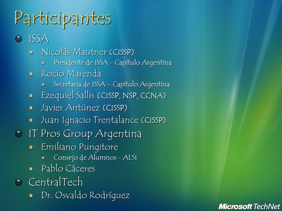 Participantes ISSA IT Pros Group Argentina CentralTech