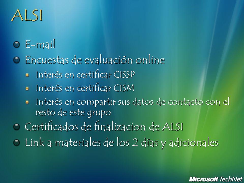 ALSI E-mail Encuestas de evaluación online