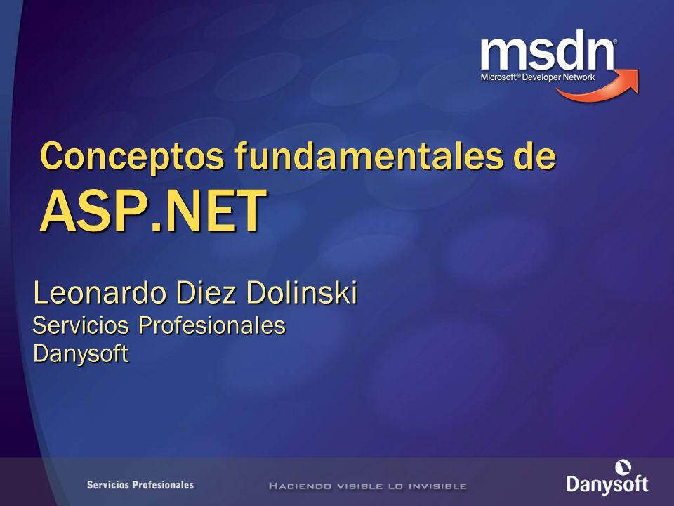 Conceptos fundamentales de ASP.NET