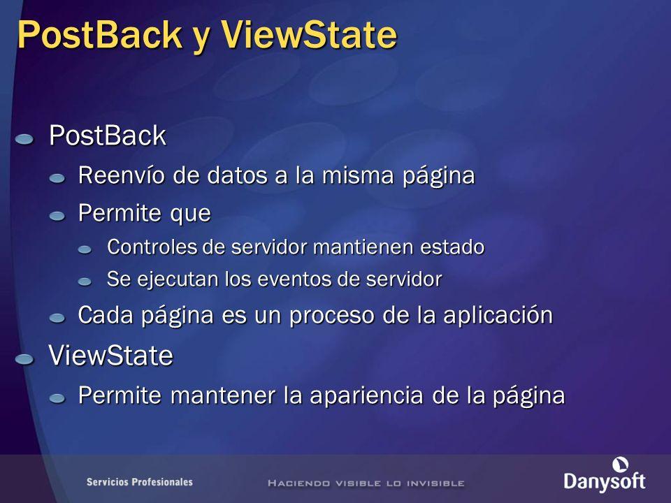 PostBack y ViewState PostBack ViewState